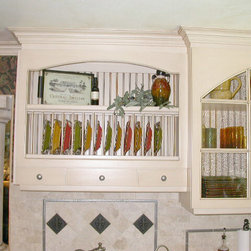 Cabinet accessories plate rack -