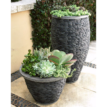 Contemporary Outdoor Planters by Horchow