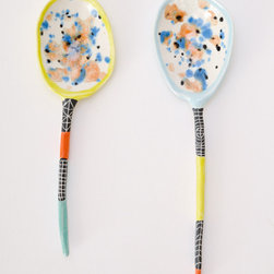 Colored Ceramic Spoon - Everything about these spoons is gorgeous: the colors, the patterns. And the fact that each one is slightly different just makes them all the more special.