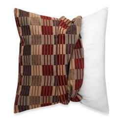 "Spencer N. Enterprises - MYOP Stripes and Ladders 20-Inch Square Toss Pillow Cover in Red/Brown - Makeover your ordinary toss pillow with the eye-catching MYOP Stripes and Ladders 20"" Square Toss Pillow Cover. The perfect finishing touch to any chair or sofa, the beautiful pillow cover features luxurious jacquard chenille in red and brown."