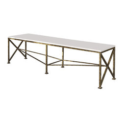 Ambella Home - New Ambella Home Cocktail Bench Gold Metal - Product Details