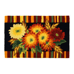 Homefires - Asters Rug - Colorful leaves, asters in bloom, sweater weather...if these are a few of your favorite things then the fall is your best season. Celebrate your perfect season all year with a wool-like, machine-washable rug that brings your favorite things to light.