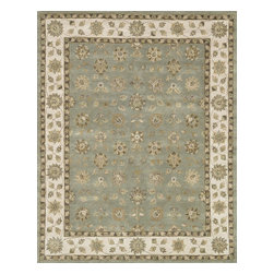 "Loloi Rugs - Loloi Rugs Maple Collection - Blue / Beige, 3'-6"" x 5'-6"" - Transform your home into a manor steeped in elegance and tradition with the majestic Maple Collection. These timeless Persian designs carry the rich heritage of centuries of carpet making in each arabesque, stylized flower and intricate border. Maple Collection rugs are hand-tufted in India of 100-percent wool so they are eco-friendly and mindfully crafted with sustainable materials. With colors as rich as these, you will feel like nobility every time you walk into your home."