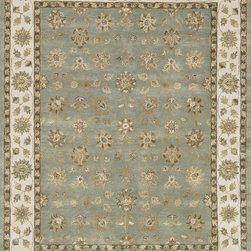"""Loloi Rugs - Loloi Rugs Maple Collection - Blue / Beige, 2'-3"""" x 8' - Transform your home into a manor steeped in elegance and tradition with the majestic Maple Collection. These timeless Persian designs carry the rich heritage of centuries of carpet making in each arabesque, stylized flower and intricate border. Maple Collection rugs are hand-tufted in India of 100-percent wool so they are eco-friendly and mindfully crafted with sustainable materials. With colors as rich as these, you will feel like nobility every time you walk into your home."""
