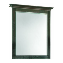"DHI-Corp - Ventura Espresso Wall Mirror with Solid Maple Frames, 26"" by 30"" - The Design House 539692 Ventura Espresso Wall Mirror features an espresso finish and a beveled mirror that matches vanities and countertops. Use this mirror for shaving or applying makeup in the morning. This product comes pre-assembled and is CARB compliant, which means it adheres to the toughest production standards in the world for formaldehyde emissions (in wood composite paneling). Measuring 26-inches by 30-inches, this traditional mirror is fully assembled in the United States. This decorative beveled edge mirror is subtle enough to remain functional, but will add a pleasing aesthetic to your bathroom. The Design House 539692 Ventura Espresso Wall Mirror has a 1-year limited warranty that protects against defects in materials and workmanship. Design House offers products in multiple home decor categories including lighting, ceiling fans, hardware and plumbing products. With years of hands-on experience, Design House understands every aspect of the home decor industry, and devotes itself to providing quality products across the home decor spectrum. Providing value to their customers, Design House uses industry leading merchandising solutions and innovative programs. Design House is committed to providing high quality products for your home improvement projects."