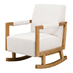 Bungalow Rocker - Clean lines and a sleek, no-fuss design make this a favorite of mine. Would look great in a beach house!