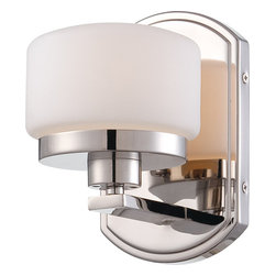 Nuvo Lighting - Nuvo Lighting 60-5021 Austin 1-Light Vanity Fixture with Etched Opal Glass - Nuvo Lighting 60-5021 Austin 1-Light Vanity Fixture with Etched Opal Glass