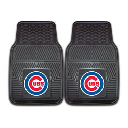 Fanmats - Fanmats Chicago Cubs 2-piece Vinyl Car Mats - Show your sports fan spirit and protect the floors of your car with these durable car mats. Perfect to protect from everything from mud to coffee spills, these handy mats are a great addition to the d_cor of any vehicle, while showing your Cubs pride.
