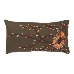 """Brown Red 11"""" x 21"""" Pillow  Set of 2 - *11"""" x 21"""" Pillow with Hidden Zipper"""