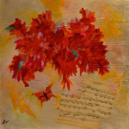 """Papillion"" (Original) By Amy Tuso - ""Papillion"" is a heavily textured, mixed media, contemporary, abstract, beautifully blended painting with the artwork continuing around all sides making it ready to hang.  The antique sheet music that is embedded is entitled ""Papillion"" with the butterfly as part of its' signature."