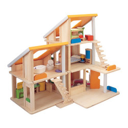 Chalet Dollhouse - This fun and colorful Chalet Dollhouse by Plantoys is the perfect kid-friendly dollhouse. This dollhouse is adorable, but is definitely meant to be played with! The model includes two to three units (depending on the size of the model you purchase) that can be rearranged in several different ways. It's definitely a gender neutral toy too (unlike so many dollhouses that are in toy stores today), which makes it great for a family with brothers and sisters.