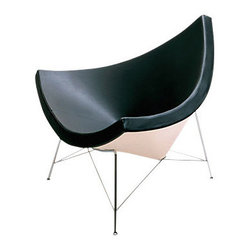 Herman Miller - Nelson Coconut Chair - Grab a coconut water and nestle yourself in the Nelson Coconut Chair. The main point (actually, it looks like there are three) of this iconic lounge chair is to just slide back, swing your legs to the side and take a slow sip.