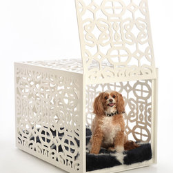 Bespoke Dog Crates - Looking for beautiful and stylish doggie crate? These gorgeous pieces from artist Maricela Sanchez will fit the bill. They're available in three different styles and sizes to match any home decor.