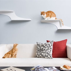The Refined Feline - Refined Feline Cat Cloud Cat Shelf - White - CLOUD-WH-R - Shop for Cat Supplies from Hayneedle.com! If your cat often drives you up the wall you can now return the favor with a Cat Cloud Cat Shelf - White. These cat shelves are made of strong powder-coated steel and are covered in comfortable padded faux sheepskin fabric. The pads are magnetic and can be replaced as wear demands. This set includes two platforms that can support up to 70 lbs.About The Refined FelineFounded in Englewood New Jersey The Refined Feline began with only a cat and his owner. Addressing specific problems with the current market The Refined Feline set out to create products that provided quality toys and beds that cats would enjoy and owners wouldn't mind displaying in their homes. The result was an innovative inventory that was all at once attractive affordable durable and enjoyable for cats and owners alike.