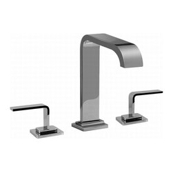 "Graff - Immersion Collection Widespread Lavatory Faucet, Satin Nickel - Installs on 8"" centers"