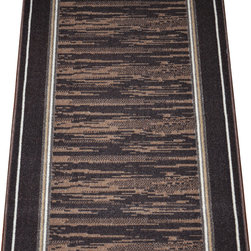 "Dean Flooring Company - Washable Non-Skid Carpet Rug Runner - Boxer Chocolate (5') - Washable Non-Skid Carpet Rug Runner - Boxer Chocolate (5') : Washable non-skid carpet rug runner by Dean Flooring Company. Matches Dean Flooring Company stair treads. Polypropylene pile with a machine washable non-skid latex backing (wash on delicate in cold water, line dry). Also easy to spot clean or vacuum. Reduces noise. Reduces wear and tear floors. Warm and comfortable. Approximately 25"" x 60""."