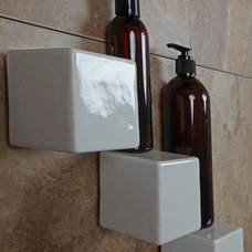 Modern Shower Caddies by Bathroom Tile Shower Shelves