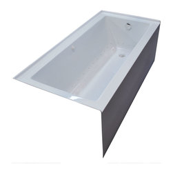 Arista - Pontormo 30 x 60 Front Skirted Air Massage Drop-In Bathtub with Right Drain - DESCRIPTION