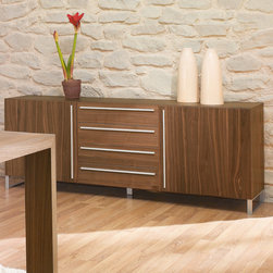 Domitalia Modern Sideboard Life-2C Walnut - $1.799.00 - The sideboard is available in Wenge or Walnut finishes.