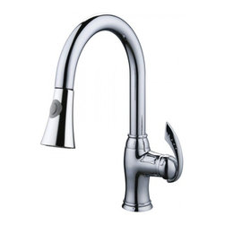 YOSEMITE HOME DECOR - Single Handle Kitchen Faucet with Pull-out Sprayer - Washerless Cartridge  Single Handle Kitchen Faucet with Pull out Sprayer No pop up drain included Polished Chrome