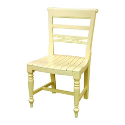 EuroLux Home - New Dining Chair Yellow Set 6 Painted - Product Details
