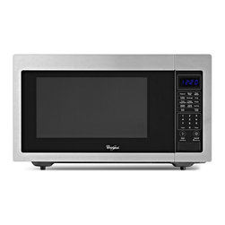 None - Whirlpool 1.6-cubic foot Stainless Steel Countertop Microwave - Enjoy a delicious bowl of popcorn or reheat leftovers with the easy-to-use stainless steel countertop microwave. Crafted with a recessed glass turntable,this microwave offers ten power levels,sensor cooking and a control lock design.