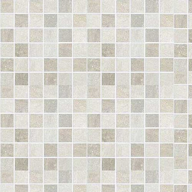 Cerdomus - Lefka Ice Mosaic - The excellence of digital technology applied to the world of ceramics: a versatile collection that lends itself to a thousand interpretations with its original nuances and unique decorative elements. These glazed porcelain wall and floor tiles have a delicate almost artistic drifting sand design.
