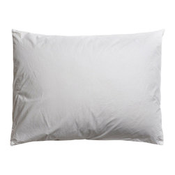 Parachute - Parachute Percale Pillowcases, Ash, King - Most easily compared to the perfect white shirt, Parachute's percale pillowcases are cool and crisp to the touch, and the perfect compliment to any decor. Featruing their signature back envelope closure, Parachute's pillowcases have done away with the side opening and excess material to create a modern updated design that will keep your pillow enclosed and supported. You'll love the simplicity.