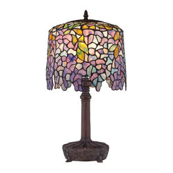 Quoizel Lighting - Quoizel TF1139T Purple Wisteria Tiffany Table Lamp - 1, 60W A19 Medium