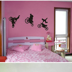 ColorfulHall Co., LTD - Personalized Wall Decals Diy Motorcross Bike Show Trick Stunt - Personalized Wall Decals DIY Motorcross Bike Show Trick Stunt