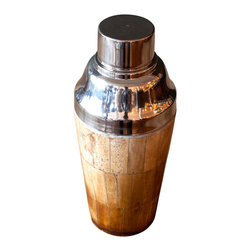 BoBo's Intriguing Objects - Bone Cocktail Shaker - Go a bit wild at your next party. Drinks concocted in this cool shaker — made of stainless steel and bedecked with bone — are bound to be a touch more intoxicating.