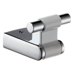 Iris Small Towel Robe Hook. White & Polished Chrome