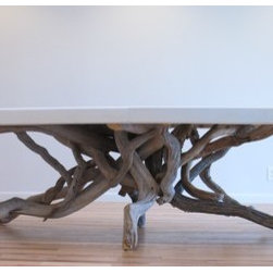 Float Dining Table By benforgeydotcom - What a gorgeous table! It's an investment piece, but one that will be around forever.
