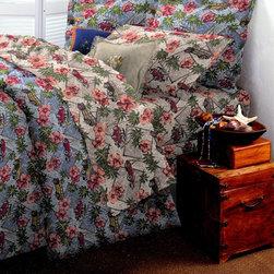 Woody Car Bedroom - Fun California themed woody car bedroom set, with hula girl pillow.