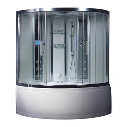 Ariel - Ariel Platinum DA324HF3 Steam Shower with Whirlpool Bathtub 59x59x89 - These fully loaded steam showers include a whirlpool bathtub, massage jets, chromotherapy, aromatherapy and built in FM Radio for Easy Listening s to help increase your therapeutic experience.