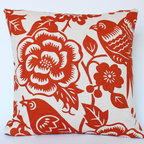 Orange Thomas Paul Aviary PIllow - The Pillow Studio