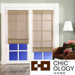 None - Chicology Nevada Timberwolf Roman Shade - These natural woven roman shades provide softened light and moderate privacy which allows you to get the right amount of sun during the day and privacy at night. Perfect for your home or office.