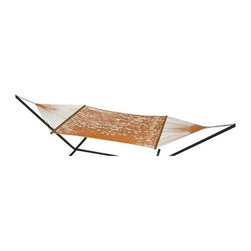 Phat Tommy - Handwoven Hammock in Carrot - Includes two chains and two tree 0.38 in. steel hooks