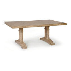 """Monastery Dining Table - Dimensions: 30""""h x 42""""w x 6, 7 or 8 ft"""