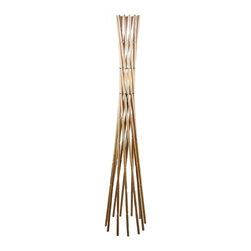 ParrotUncle - Rustic Wooden Rattan Floor Lamp For Living Room - Rustic Wooden Rattan Floor Lamp For Living Room
