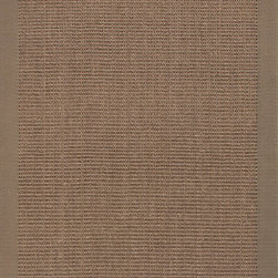 Jaipur Rugs - Naturals Solid Pattern Sisal Taupe/Tan Area Rug ( 3x5 ) - Woven 100% of natural sisal and accented with a fabric border, these rugs are durable and latex backed.