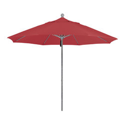 California Umbrella - 9 Foot Sunbrella Fabric Aluminum Pulley Lift Patio Patio Umbrella, Silver Pole - California Umbrella, Inc. has been producing high quality patio umbrellas and frames for over 50-years. The California Umbrella trademark is immediately recognized for its standard in engineering and innovation among all brands in the United States. As a leader in the industry, they strive to provide you with products and service that will satisfy even the most demanding consumers.