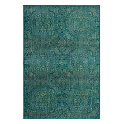"Loloi Rugs - Loloi Rugs Madeline Collection, Teal and Multi, 2'-0""x3'-0"" - Distinguished by its unprecedented watercolor design, the Madeline Collection features a series of gorgeous, show-stopping rugs at an unbeatable price. Power-loomed of 100% polypropylene in Egypt, Madeline's color space-dyeing technique gradates the bold and vibrant colors throughout the rug to create a stunning rendition of popular watercolor paintings."