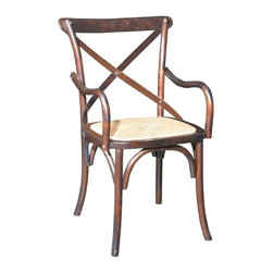 EuroLux Home - New Pair Bentwood Dining Arm Chairs - Product Details