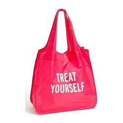 Kate Spade - kate spade Treat Yourself Reusable Shopping Tote- Pink - Our kate spade new york Reusable Shopping Tote is the perfect reusable tote for stashing your stuff or carrying around town. Treat yourself!