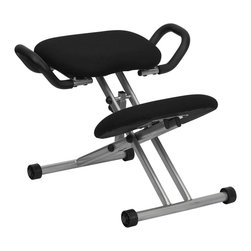 Flash Furniture - Flash Furniture Office Chairs Kneeling Chairs X-GG-9241-LW - Reduce lower back strain and regain your body's natural posture with this ergonomic kneeling chair. Kneeling chairs sit you in a position to allow your diaphragm to move efficiently and promote better breathing and blood circulation. This chair can be used as a permanent office chair or used in conjunction with a conventional task or executive office chair. [WL-1429-GG]