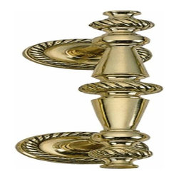 Brass Accents - Brass Accents Rope Cabinet Pull & Plates - 6 Inch C-C Polished Brass C06-P4590 - Brass Accents Rope Cabinet Pull & Plates - 6 Inch C-C