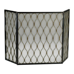 Gold Mesh Fire Screen - *Gold Mesh Fire Screen