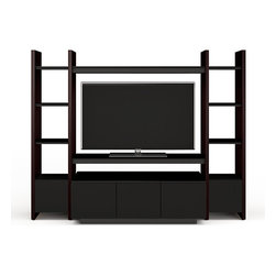 BDI - Semblance Home Theater Package 5423TH - This is not your ordinary TV stand — this is wall art. Sculptured, richly grained, eye-catching. It grows as you do. Just add pieces as your system changes. Display your artifacts and hide your electronics.