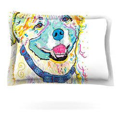 "Kess InHouse - Rebecca Fischer ""Milo"" Pillow Sham (Cotton, 30"" x 20"") - Pairing your already chic duvet cover with playful pillow shams is the perfect way to tie your bedroom together. There are endless possibilities to feed your artistic palette with these imaginative pillow shams. It will looks so elegant you won't want ruin the masterpiece you have created when you go to bed. Not only are these pillow shams nice to look at they are also made from a high quality cotton blend. They are so soft that they will elevate your sleep up to level that is beyond Cloud 9. We always print our goods with the highest quality printing process in order to maintain the integrity of the art that you are adeptly displaying. This means that you won't have to worry about your art fading or your sham loosing it's freshness."